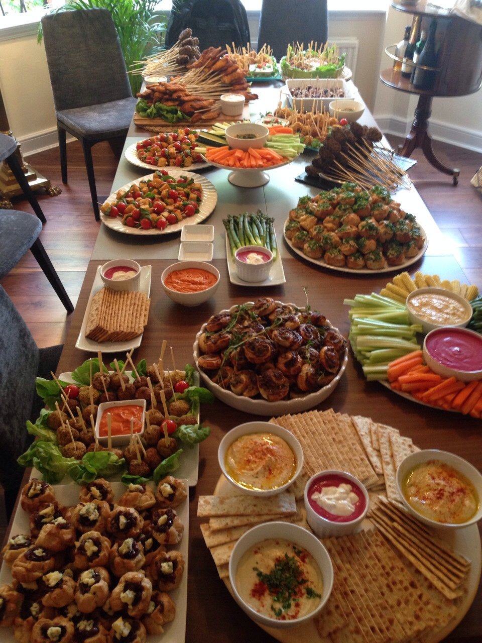Examples of Buffet dishes